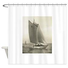 Vintage Yacht Sail Nautical Shower Curtain