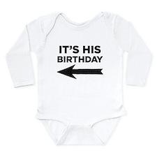 Unique His birthday Long Sleeve Infant Bodysuit