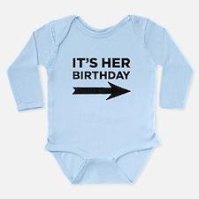 Unique Twin birthday Long Sleeve Infant Bodysuit