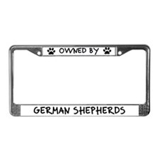 Owned by German Shepherds License Plate Frame