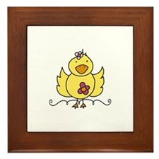 Floral Ducky Framed Tile
