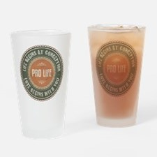 Pro Life Drinking Glass