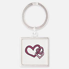 Linked Hearts Keychains