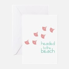 Headed To The Beach Greeting Cards