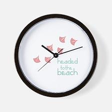Headed To The Beach Wall Clock