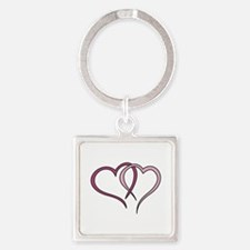 Hearts Outline Keychains