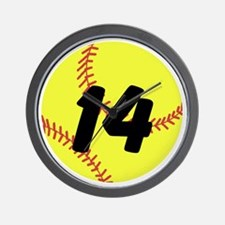 Custom Softball Wall Clock