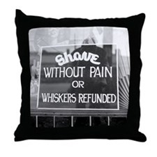 Unique Barbershops Throw Pillow