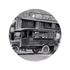 "Hardware Store Delivery Truck, 1924 3.5"" Button"