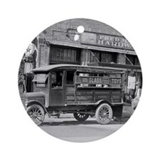 Hardware Store Delivery Truck, 1924 Round Ornament
