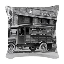 Hardware Store Delivery Truck, Woven Throw Pillow