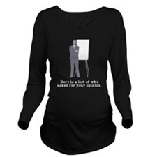 Asked Opinion Long Sleeve Maternity T-Shirt
