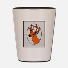 Stained Glass Deer Shot Glass