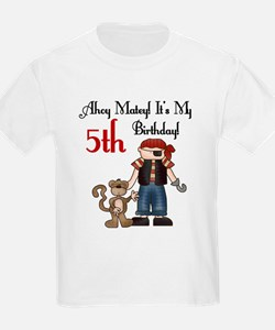 Pirate Party 5th Birthday Kids T-Shirt