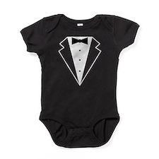 Minimalist Funny Tuxedo Baby Bodysuit