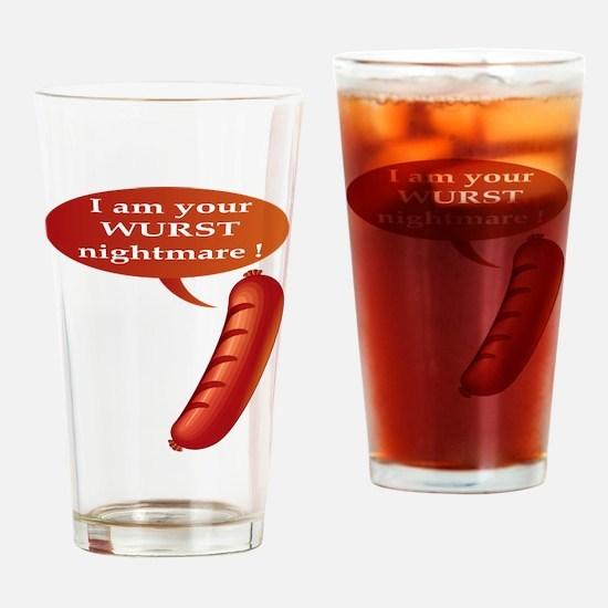 Wurst Nightmare Drinking Glass