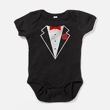 Funny Tuxedo [red bow] Baby Bodysuit