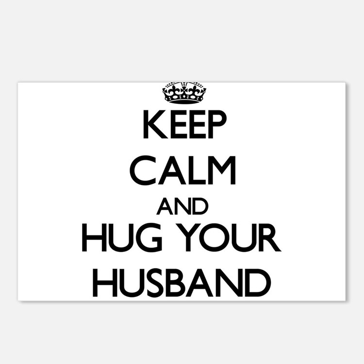 Keep Calm and Hug your Husband Postcards (Package