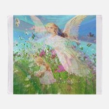 Flower Field Throw Blanket