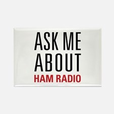 Ham Radio - Ask Me About - Rectangle Magnet