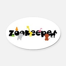 Zoo keeper Oval Car Magnet
