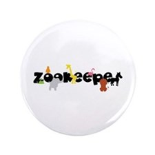"""Zoo keeper 3.5"""" Button"""