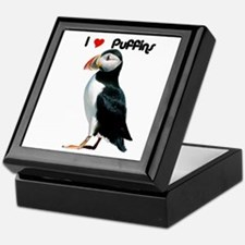I Luv Puffins Keepsake Box
