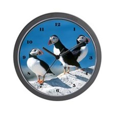 Puffins Wall Clock
