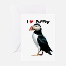 I Luv Puffins Greeting Cards (Pk of 10)