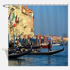Venetian gondoliers Shower Curtain