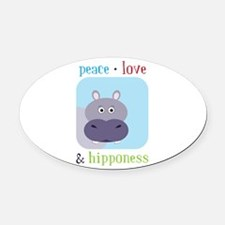 Hipponess Oval Car Magnet
