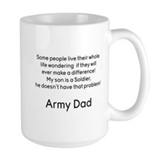 Army Dad No Problem Son Mugs