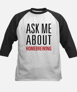 Homebrewing - Ask Me About - Kids Baseball Jersey
