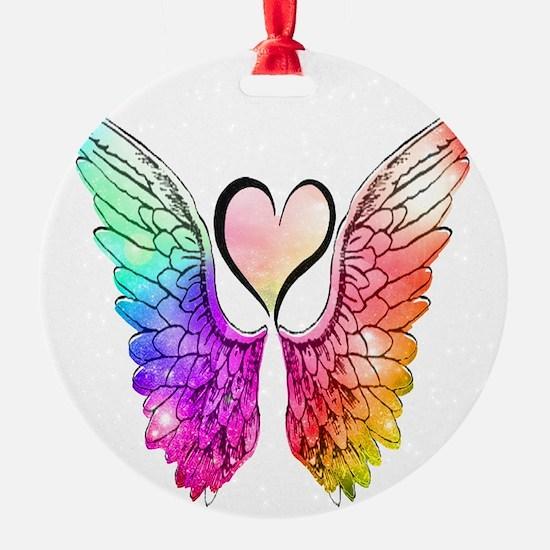 Angel Wings Heart Ornament