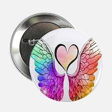 """Angel Wings Heart 2.25"""" Button"""