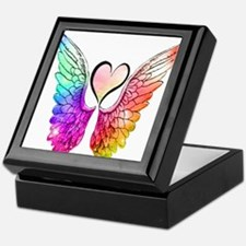 Angel Wings Heart Keepsake Box