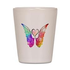 Angel Wings Heart Shot Glass