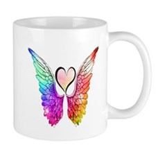 Angel Wings Heart Mugs