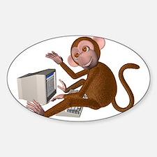 Code Monkey 2 Oval Decal