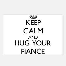 Keep Calm and Hug your Fiance Postcards (Package o
