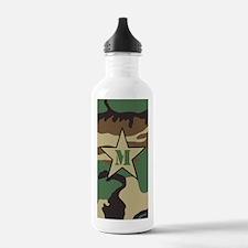 Monogram Camouflage Pattern Water Bottle