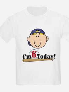Baseball 6th Birthday(blond) T-Shirt
