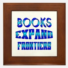 Books Expand Frontiers Framed Tile