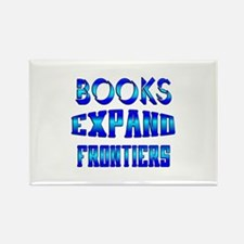 Books Expand Frontiers Rectangle Magnet