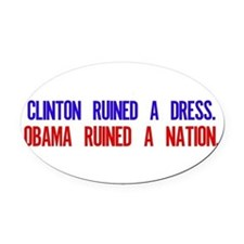 Cute Funny political Oval Car Magnet