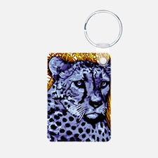 Cheetah artwork Aluminum Photo Keychain