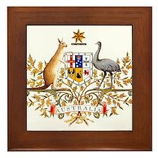 Autralia's Coat of Arms Framed Tile