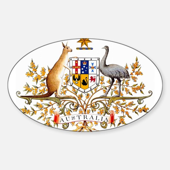Autralia's Coat of Arms Oval Decal
