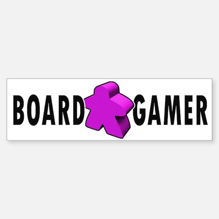 Board Game Meeple Purple Bumper Bumper Bumper Sticker