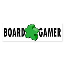 Board Gamer Green Bumper Bumper Sticker